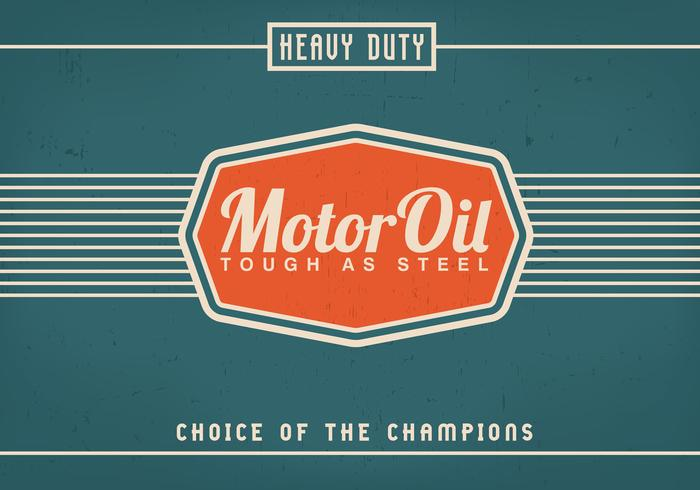 Vintage Motor Oil Background Vector