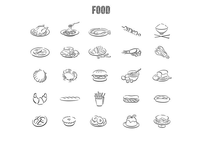 Hand Drawn Food Vector Set