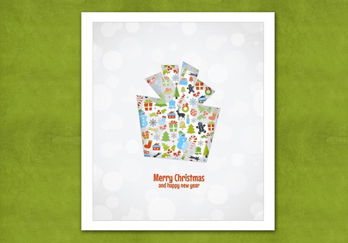 Bokeh Christmas Gift Vector Background