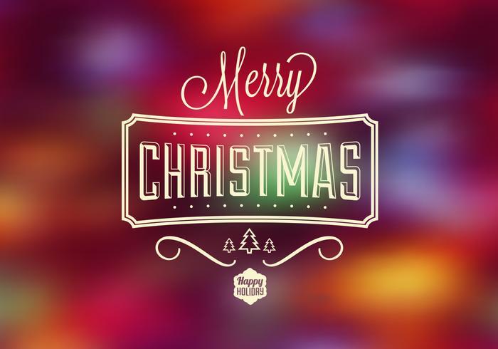 Brillante Navidad Bokeh Vector