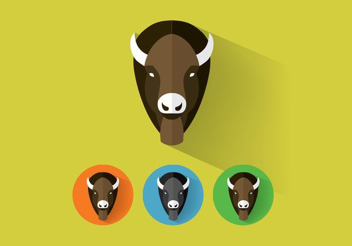 Vector de búfalo