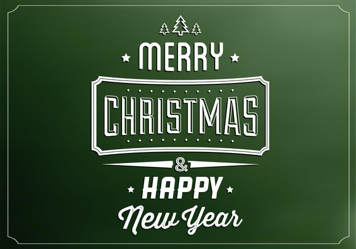 Emerald Merry Christmas Vector Background