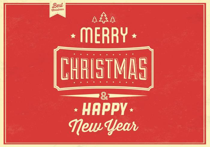 Retro Christmas Vector Background