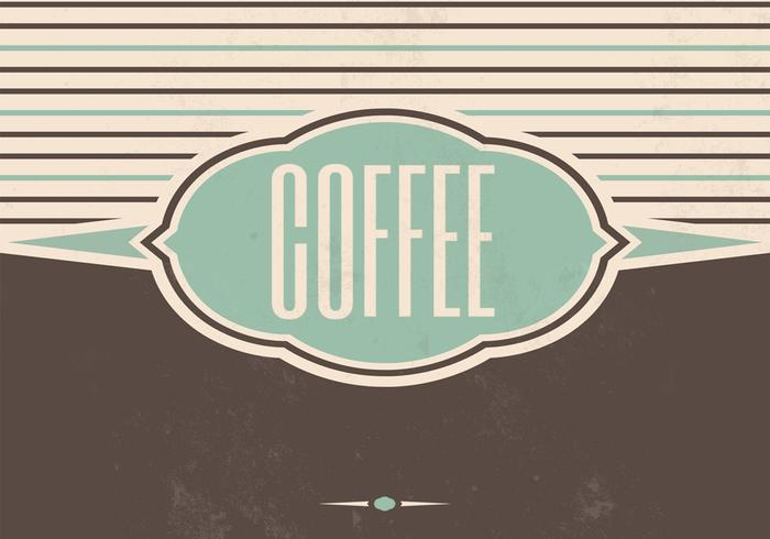 Vintage Coffee Vector Background