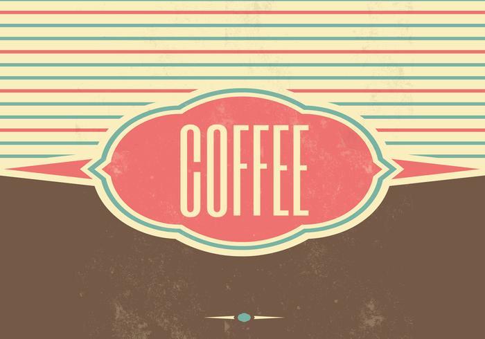 Fondo de vector de café retro