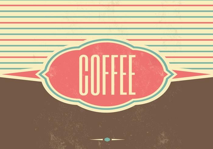 Retro Coffee Vector Background