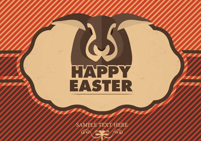 Modern Easter Vector Background