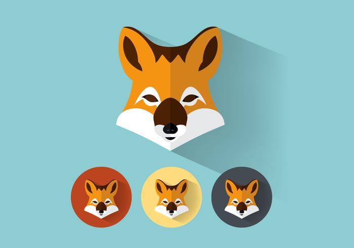 Conjunto de vetores de retratos Fox