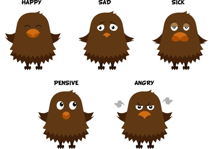 Eagle Vector Emoticons