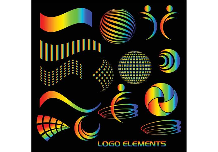 Bright Vector Logo Elements