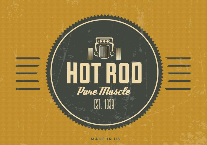 Vintage Hot Rod Vector Background
