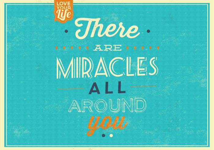 Miracles Quote Vector Background