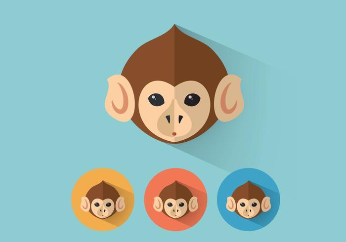 Retratos del vector del mono