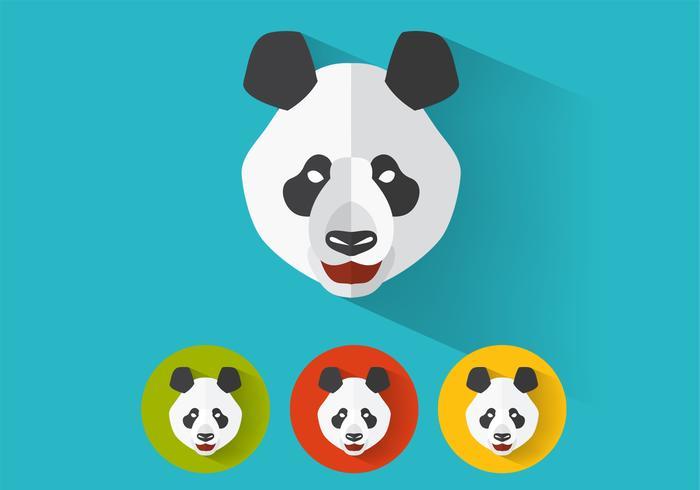 portraits vectoriels panda