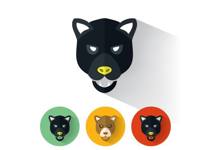 Panthervektorporträtt