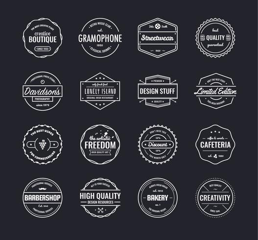 Vintage emblem vektor samling