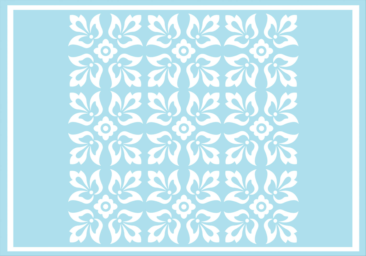 Floral Ornament Vector Free: Blue Floral Ornament Vector Pattern