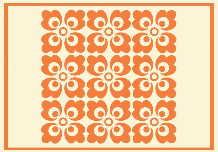 Orange Floral Vector Pattern