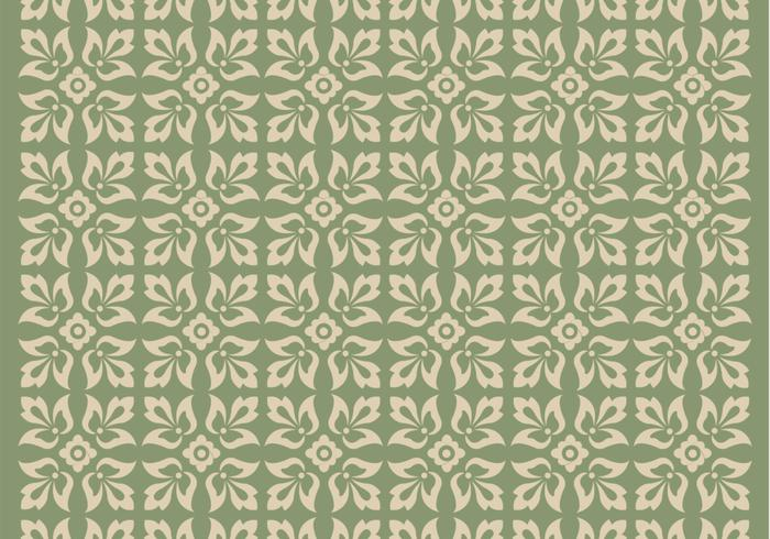 Green Ornament Vector Pattern