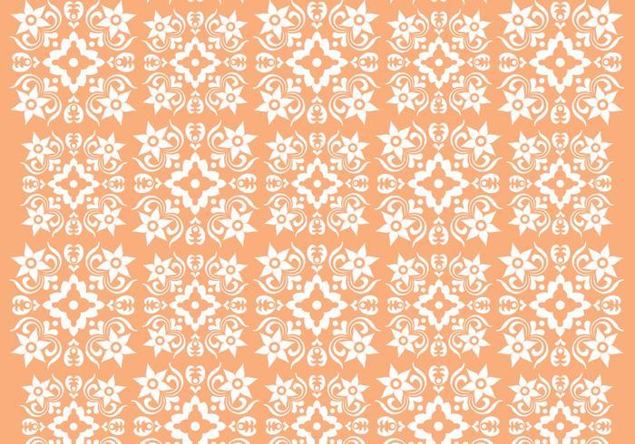Retro Oranje Ornament Vector Patroon