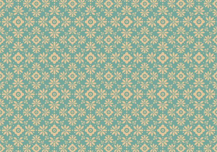 Blue Floral Vector Pattern