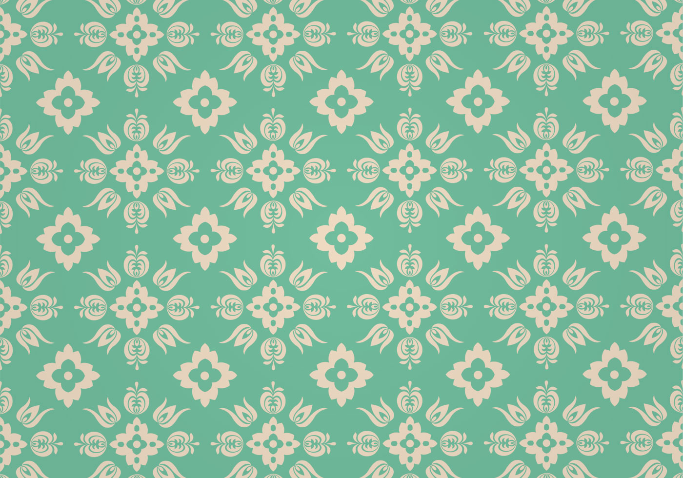 Green Floral Vector Pattern Download Free Vector Art