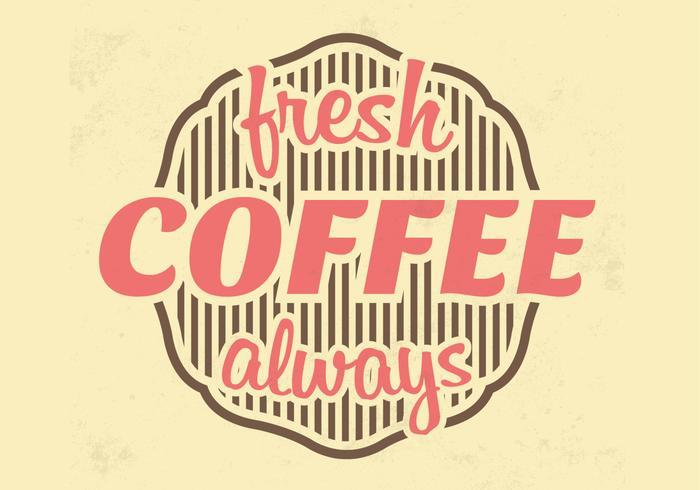 Verse Koffie Vector Achtergrond