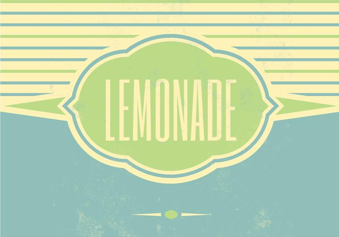 Fundo retro do vetor de limonada