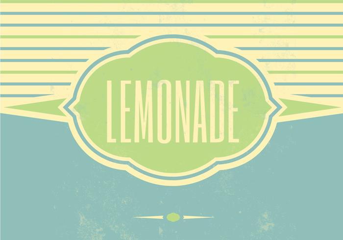 Retro limonada Vector de fondo