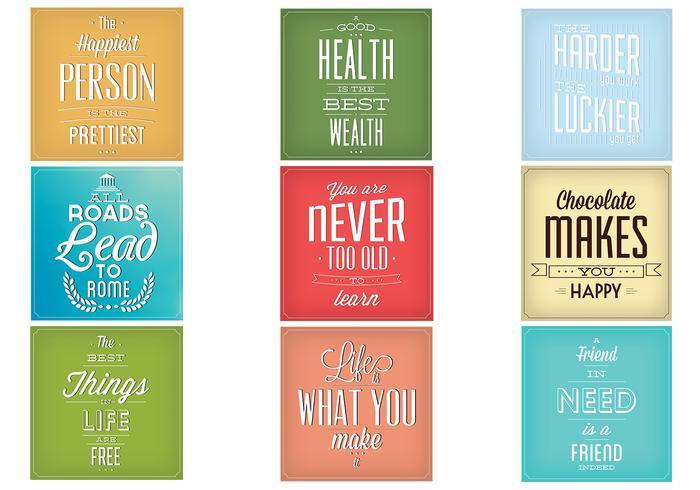 Vintage Typography Vector Background Set