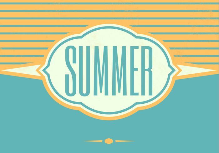 Retro Fondo Vector de verano