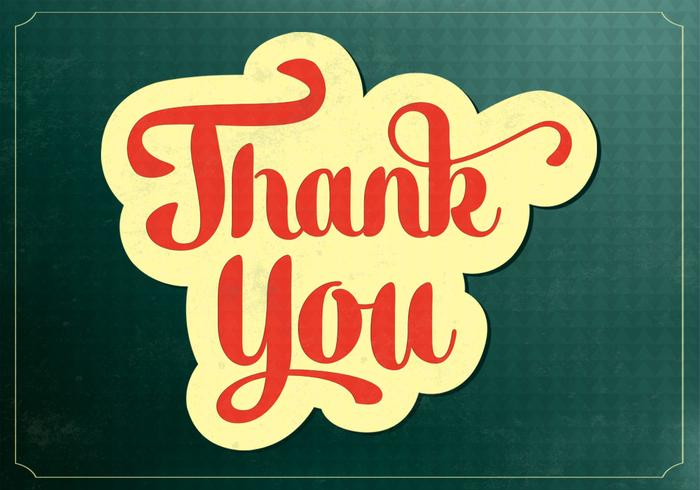 Retro Thank You Vector Background