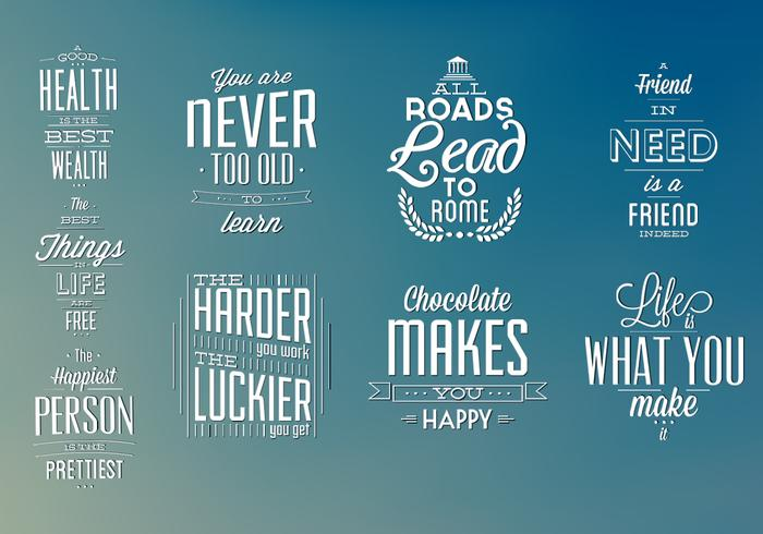 Typographic Elements Vector Pack