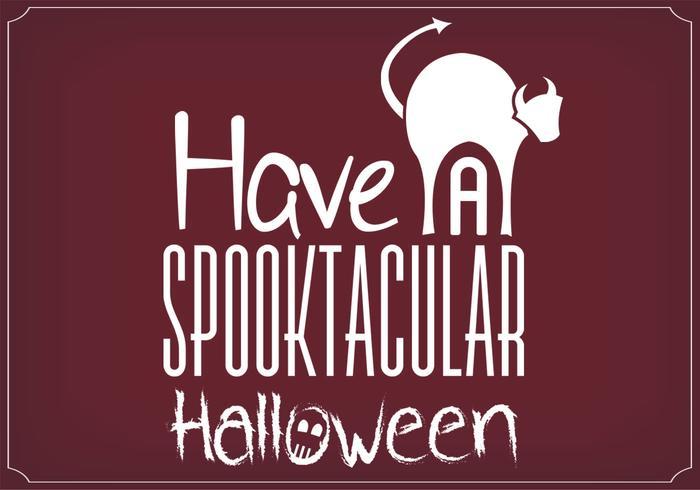 Spooktacular Halloween Vector Background do cartaz