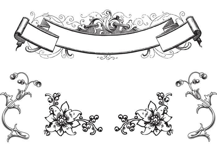Ornamentos Antigos Antigos e Vetores de rolagem