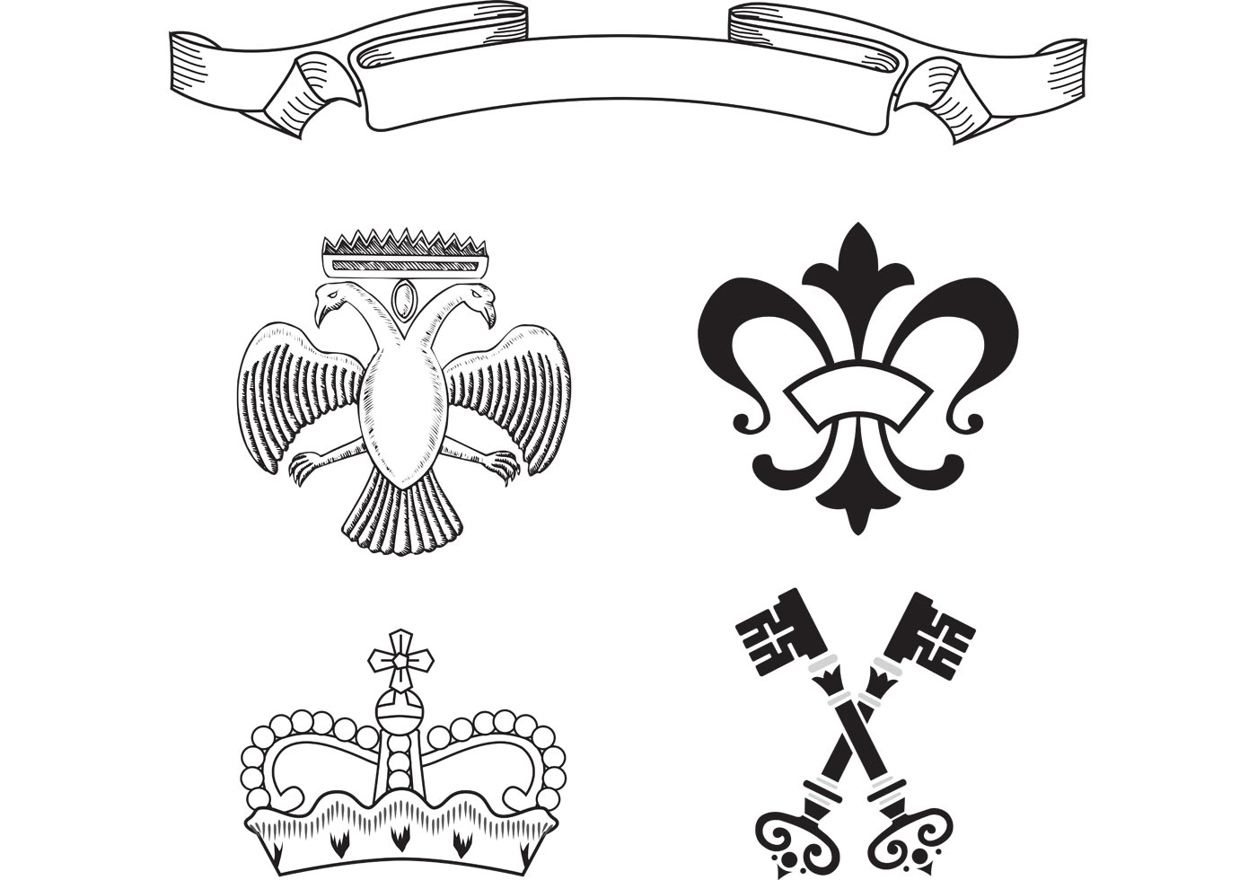 Free Heraldry Vector Elements