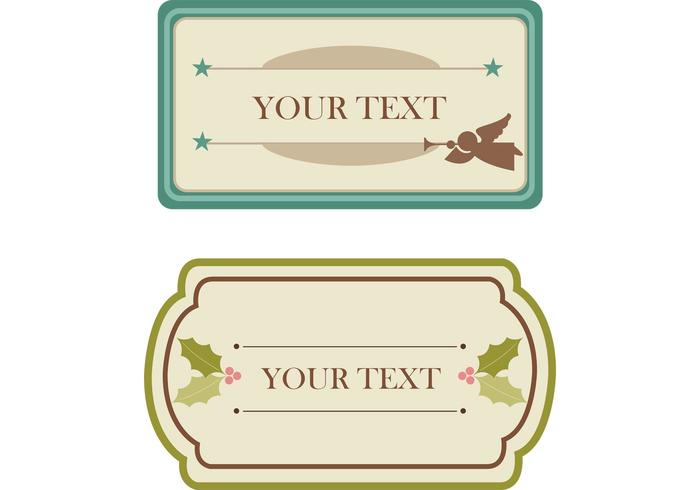 Free Vintage Christmas Tags and Labels Vectors
