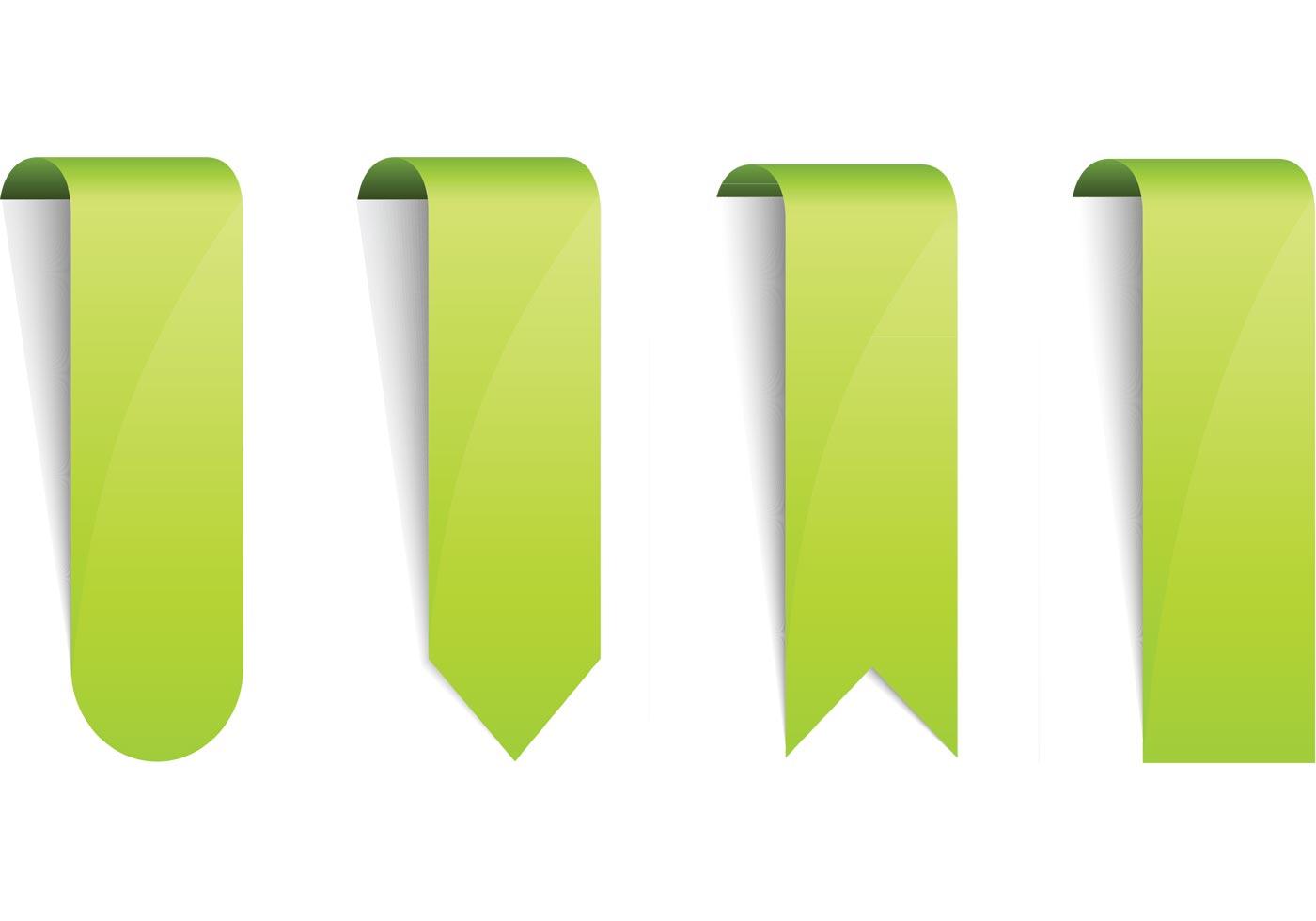 Vertical Ribbons Label Design Royalty Free