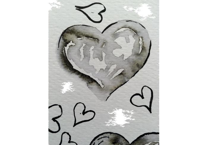 Free Watercolor Heart Vectors