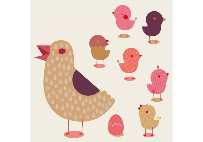Goose and Chick Vector Pack