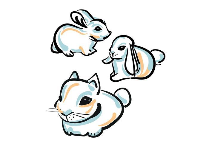 Free Cute Bunny Vector