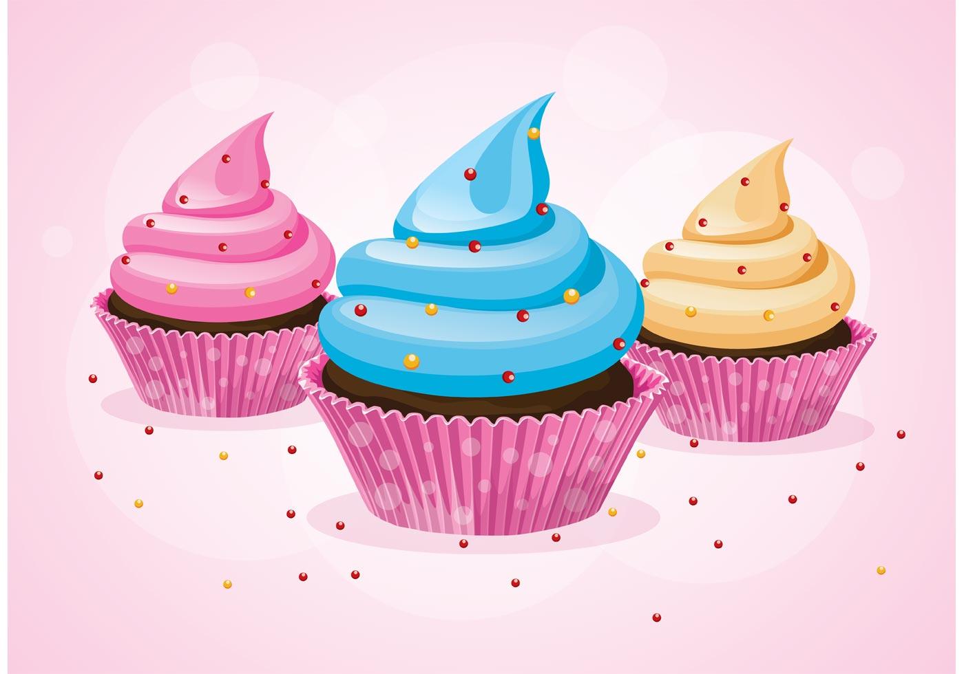 Cupcake Vectors Download Free Vector Art Stock Graphics