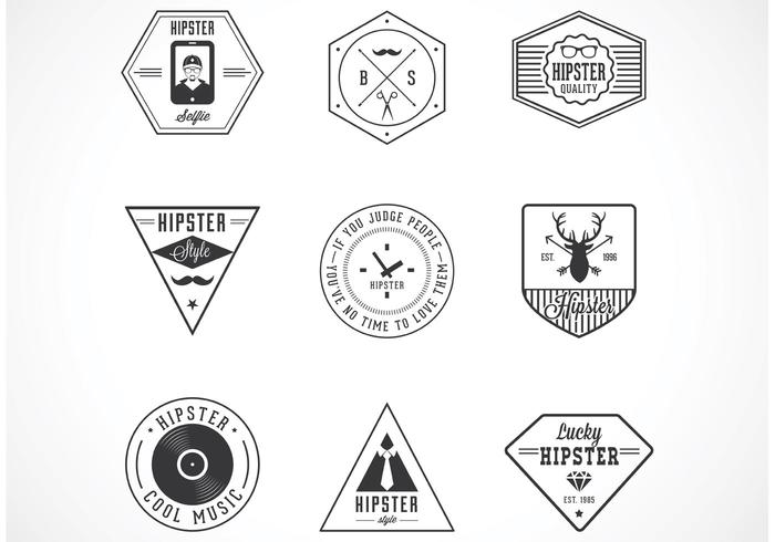 Free Hipster Vector Badges