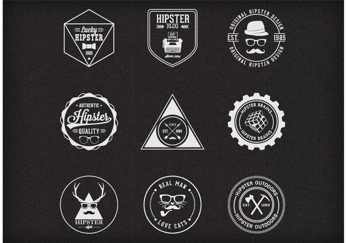 Gratis Vector Trendy Hipster Badges