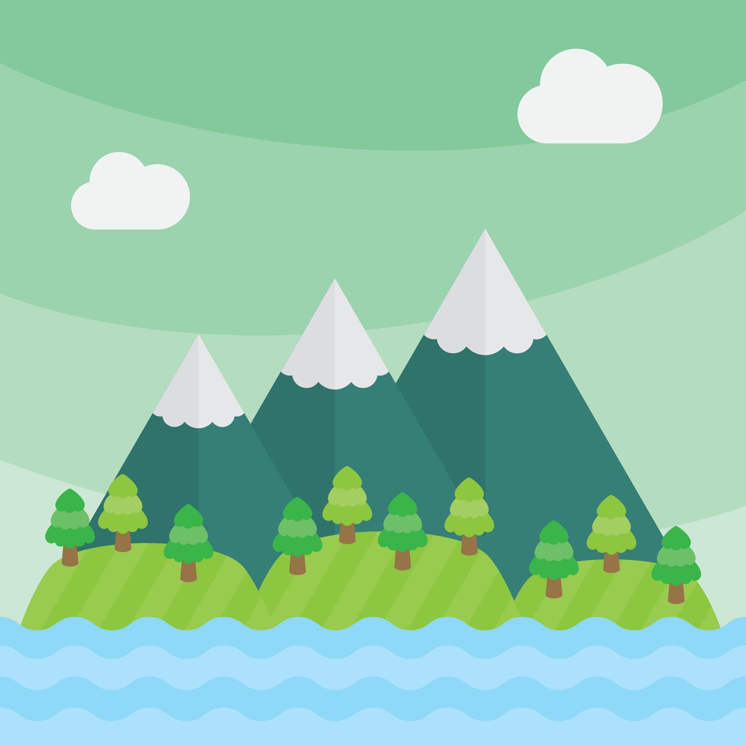 free vector clipart mountain - photo #13
