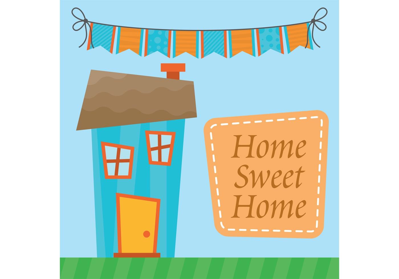 Home Sweet Home Vector - Download Free Vector Art, Stock ...