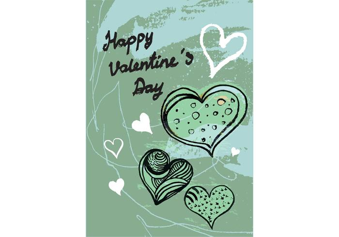 Free Valentine's Day Greeting Card Vector