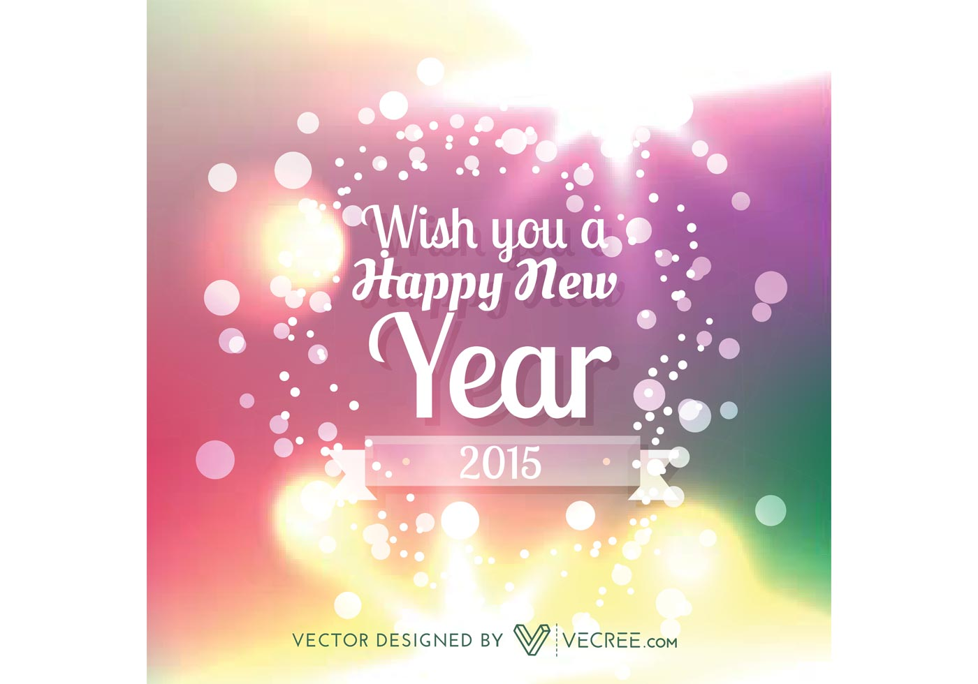 Happy New Year 2015 Vector Design Wallpaper Like Wallpapers