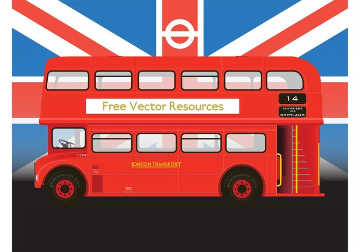 Rojo doble autobús vector Decker