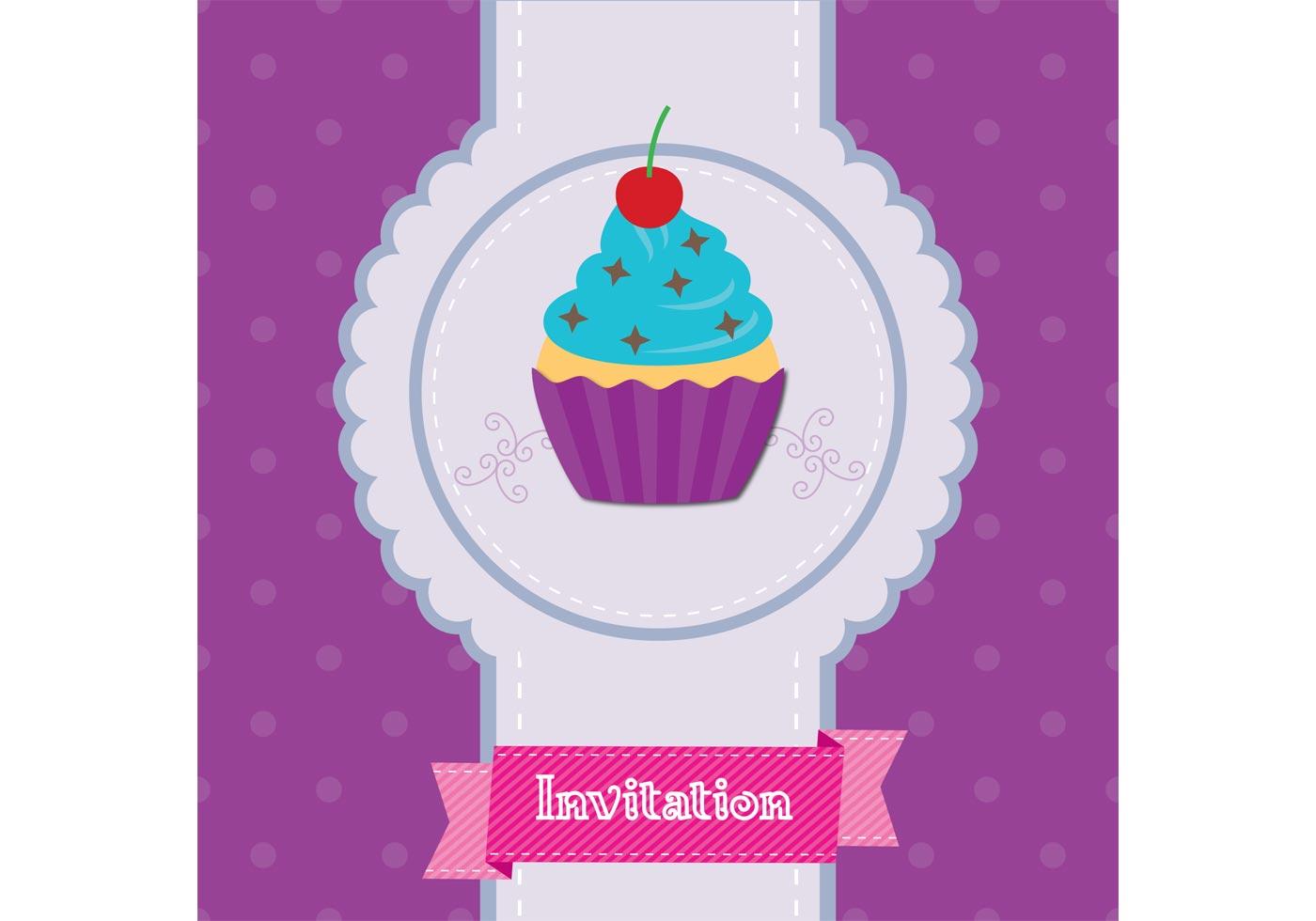 cupcake invitation free vector art 6934 free downloads